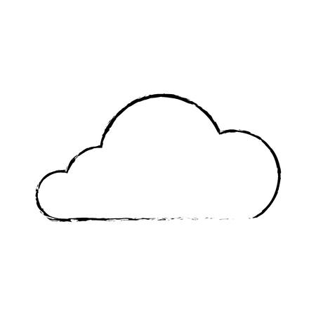 Cloud technology data storage information, vector illustration. Illustration