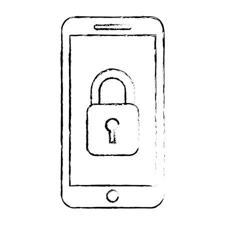 smartphone gps navigatie beveiligingstoegang app vectorillustratie