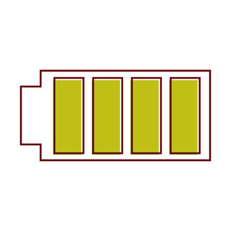 전체 전력 충전 된 전기 벡터 일러스트와 함께 배터리 아이콘