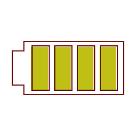 battery icon with full power charged electric vector illustration Stock fotó - 90312478