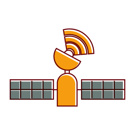 Satellite gps technology tracking wireless vector illustration 向量圖像