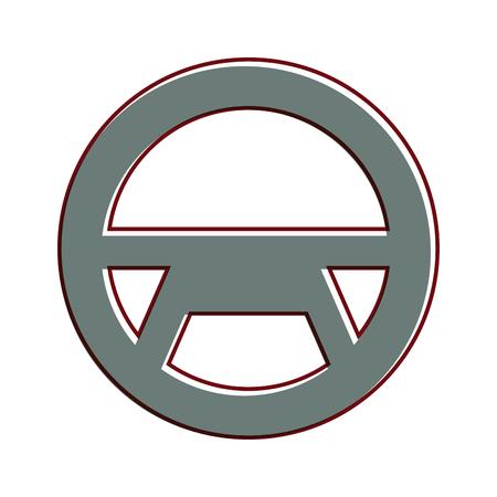 Steering wheel vector illustration