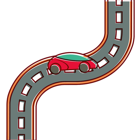 car road street highway direction plan vector illustration Ilustracja