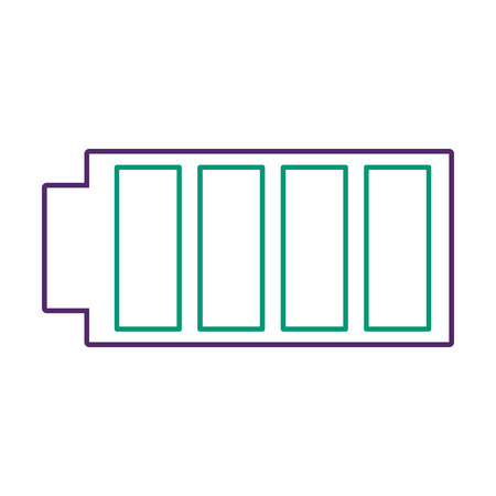 Battery icon with full power charged electric vector illustration