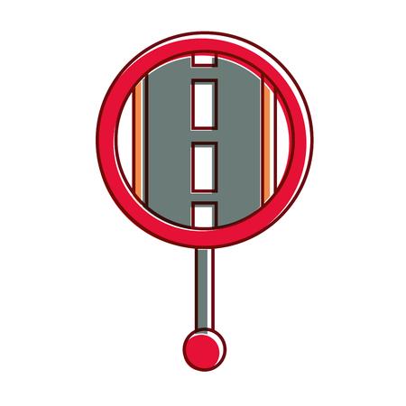 GPSナビゲーションポインターマップ道路道路アイコンアイコンイラスト  イラスト・ベクター素材