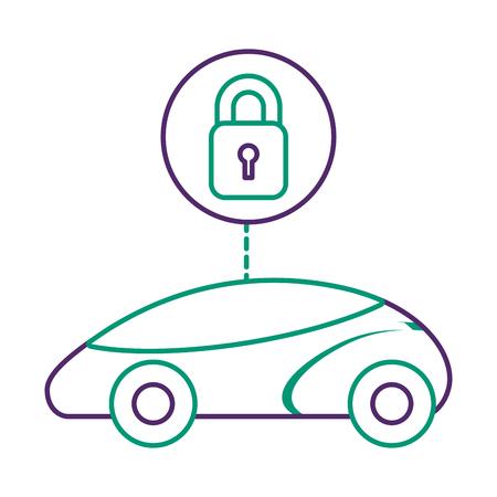 Ilustração em vetor tecnologia futurista ou inteligente carro segurança sistema futurista Foto de archivo - 90299819