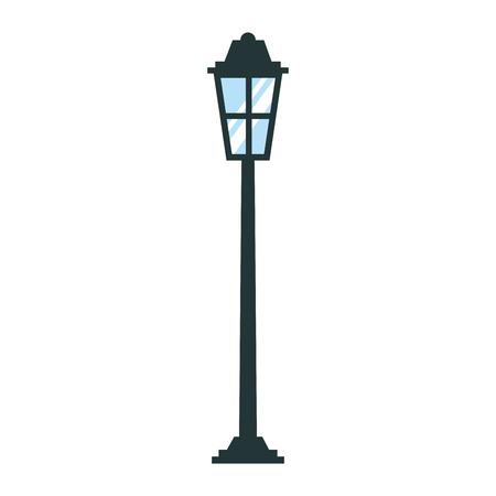 公園街路灯ライト ガラス ヴィンテージ装飾ベクトル図