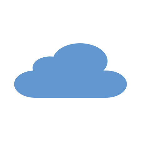 blue cloud sky climate design vector illustration