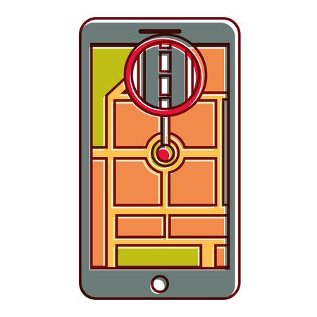 gps navigation pointer map location road city vector illustration