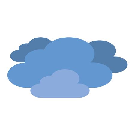 푸른 구름 벡터 일러스트 레이션