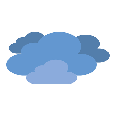 Blue clouds vector illustration