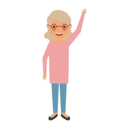 Elderly woman character vector illustration