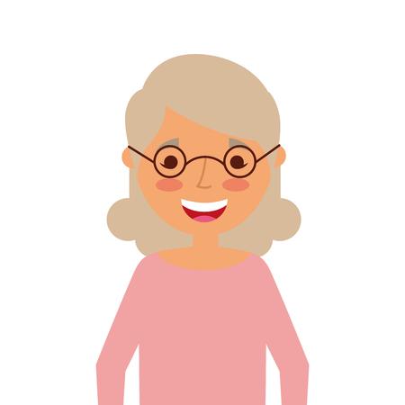 Portrait of a grandma cartoon vector illustration