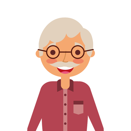 Portrait of a grandfather character vector illustration