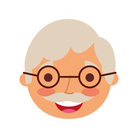 할아버지 문자 벡터 일러스트 레이션의 초상화