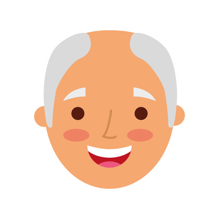 Profile avatar of the grandfather vector illustration Çizim
