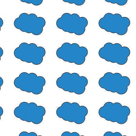 Cloud weather pattern image vector illustration design