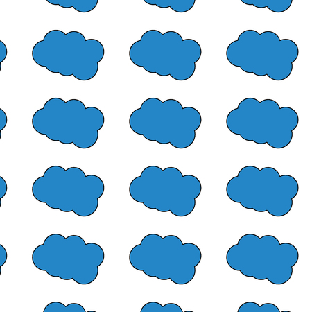 Cloud weather pattern image vector illustration design