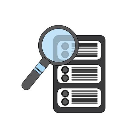 Server search web hosting icon image vector illustration design