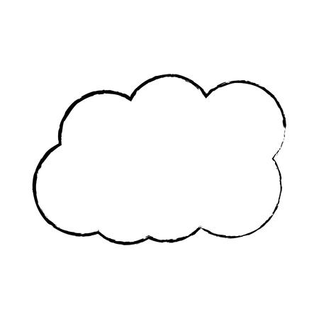 구름 날씨 아이콘 이미지 벡터 일러스트 레이 션 디자인 일러스트