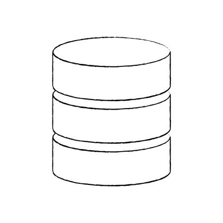database data center icon image vector illustration design  向量圖像