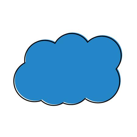 Cloud weather icon image vector illustration design