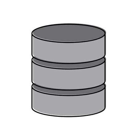 Database data center icon image vector illustration design Ilustração