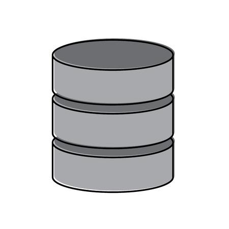 Ontwerp van het het pictogrambeeld van het gegevensbestandgegevenscentrum het vectorillustratie Stock Illustratie