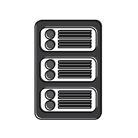 Server web hosting icon image vector illustration design Stock Vector - 90308563
