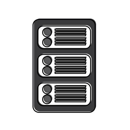Serveur web hébergement image icône vecteur design illustration Banque d'images - 90308563