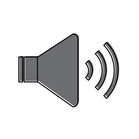 Speaker sound on icon image vector illustration design Banco de Imagens - 90308562