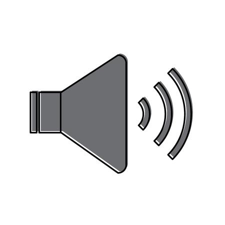 Speaker sound on icon image vector illustration design
