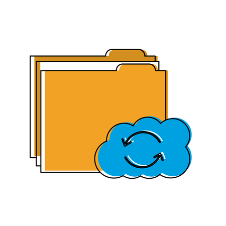 File folder with cloud storage icon image vector illustration design Stock fotó - 90308571