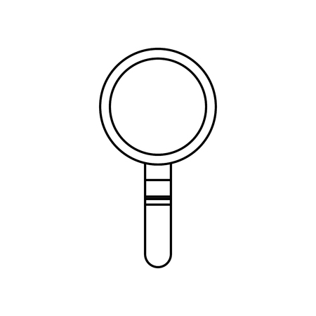 magnifier search technology tool element find vector illustration Illustration
