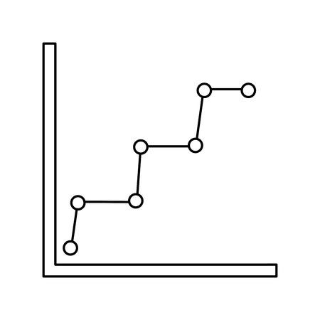 비즈니스 그래프 다이어그램 및 통계 점선 기호 벡터 일러스트 레이 션