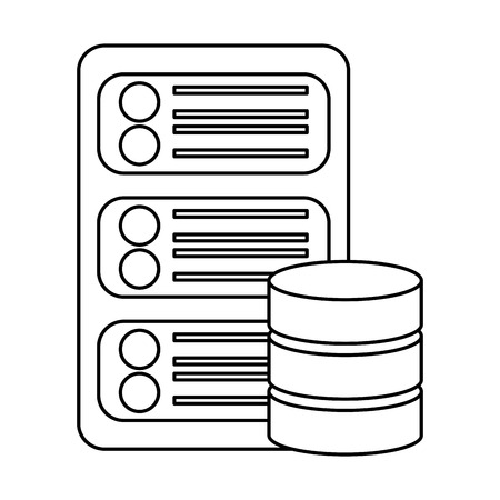 data base center server hosting network icon vector illustration Illusztráció