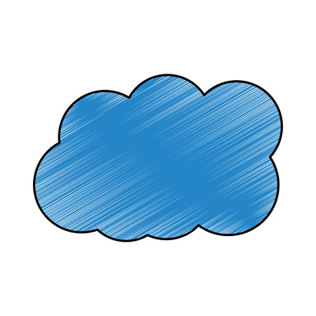 Cloud weather sky day meteorology design vector illustration