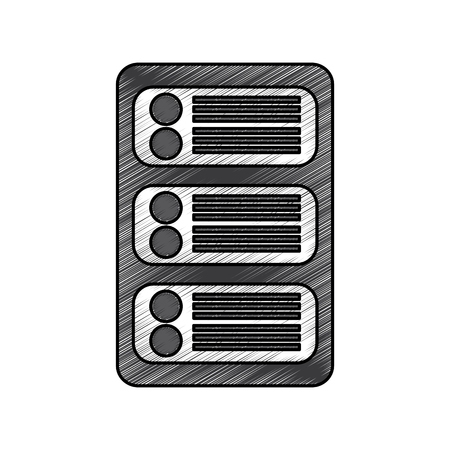 Data center development network technology vector illustration Illustration