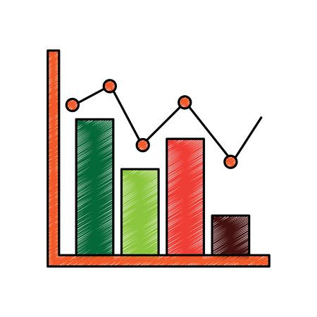 Diagram bar chart business template elements vector illustration Çizim