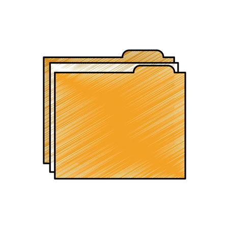Ícone do arquivo de pasta Ilustración de vector