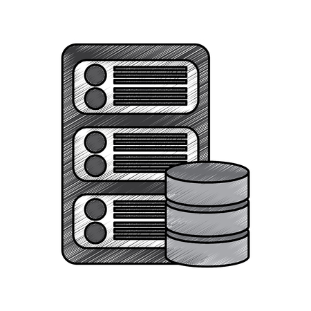 Data base center icon