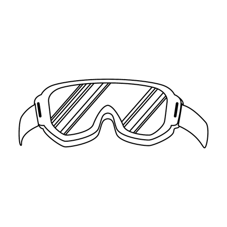 ski goggles isolated icon vector illustration design