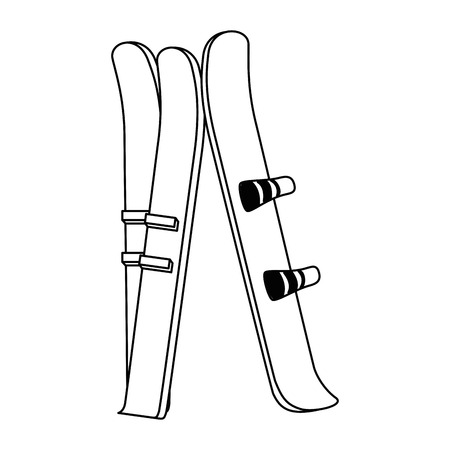ski sport isolated icon vector illustration design