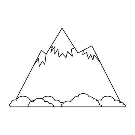 mountain with snow icon vector illustration design