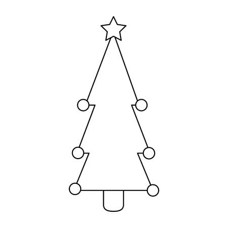 christmas tree isolated iicon vector illustration design