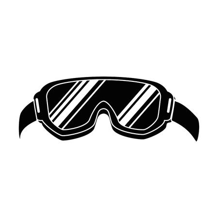 skibril geïsoleerd pictogram vector illustratie ontwerp