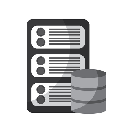 data base center server hosting network icon vector illustration Illusztráció