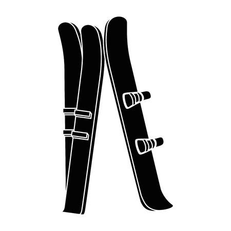 Ski sport geïsoleerd pictogram vector illustratie ontwerp Stock Illustratie