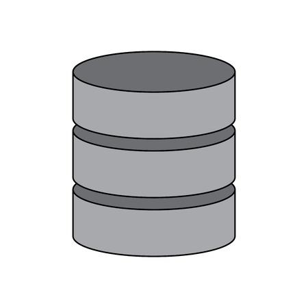 データ サーバー センター システム バックアップ サービスのベクトル図