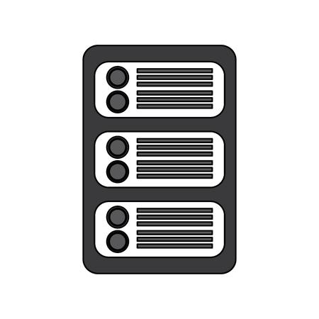 data center development network technology vector illustration